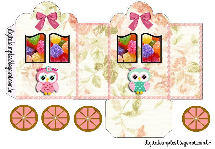 Pretty Owls: Princess Carriage Shaped Free Printable Boxes.