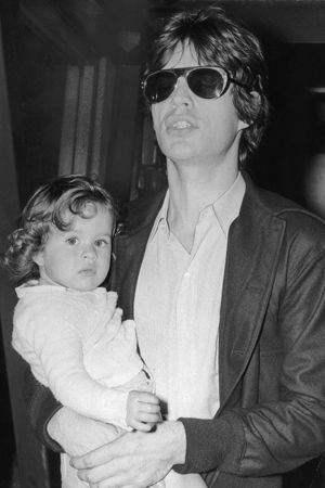 No shades for me? Jade with her effortlessly cool father.