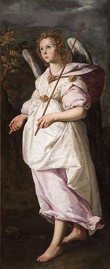Francisco de Zurbarán L'Archange Gabriel.