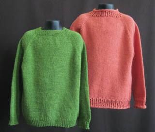 Basic top-down crewneck sweater pattern for beginners.