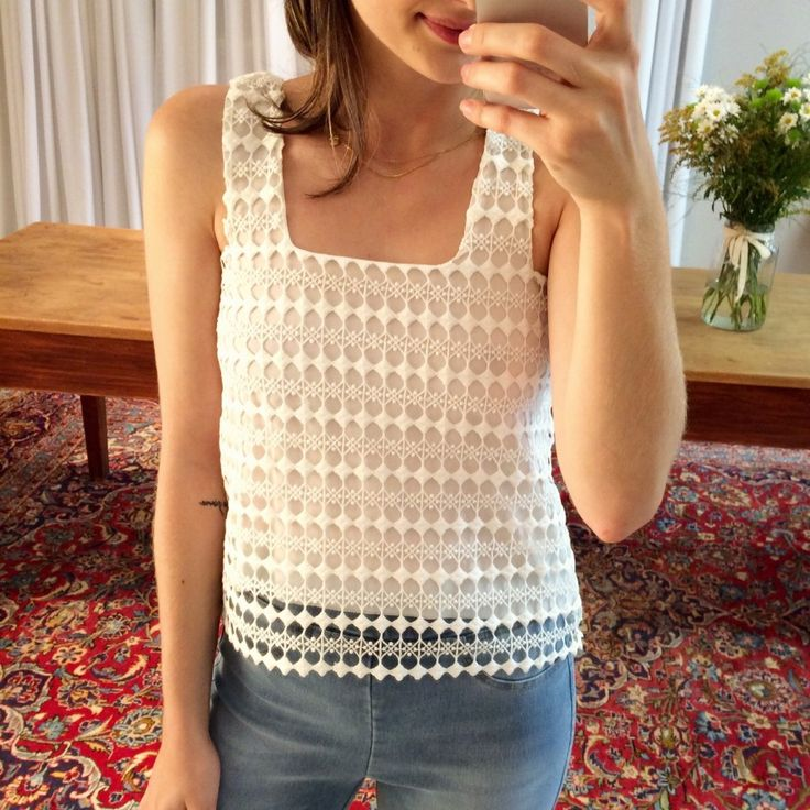 blusa guipir off white