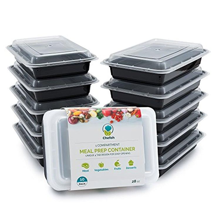 10-Pack 1 Compartment Meal Prep Containers with Lids, 28 oz | Reusable Microwavable Food Storage Containers