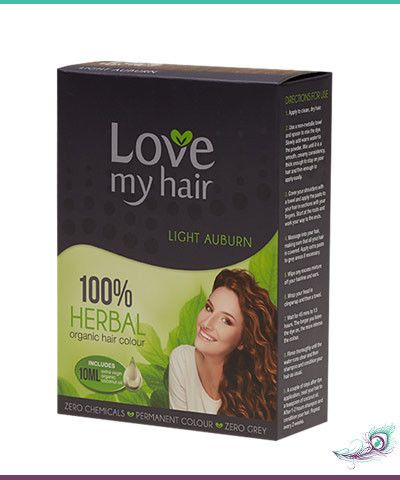 Love My Hair Organic Hair Colour - Light Auburn – Absolute Simplicity