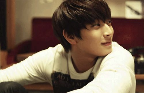 This is a gif of Jeong Jinwoon from the Kpop boy band 2AM.