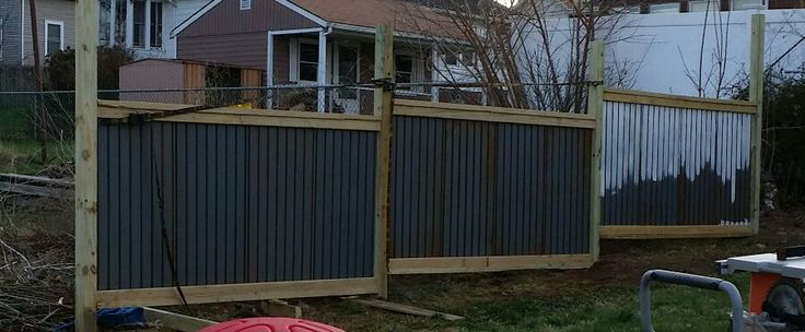 Metal Roofing Turned Into A Fence Things I Built