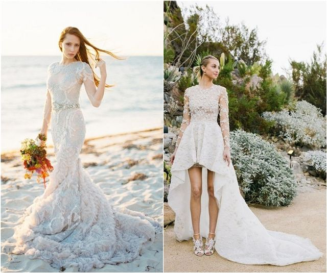 Beach Wedding Gowns and Bridal Dresses