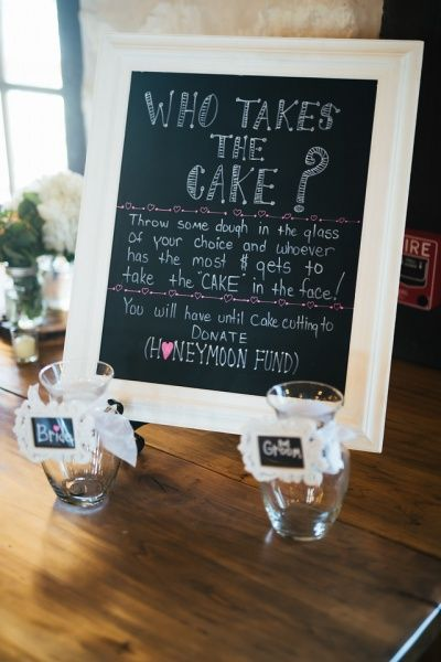 Fun honeymoon fund idea! A game to play with your wedding guests. Make the wedding day different with this fun wedding idea! Wedding reception fun.