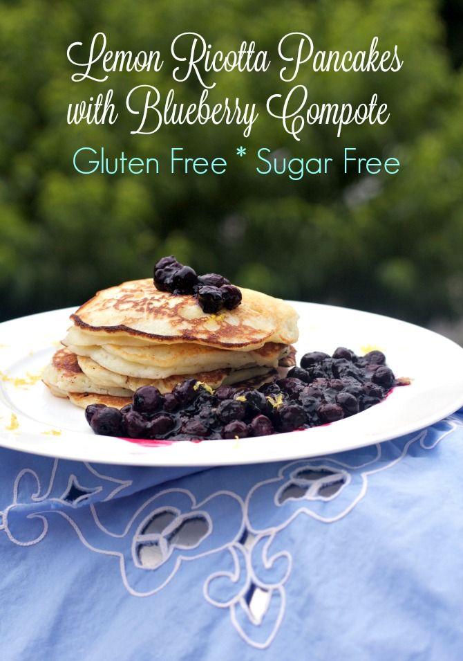 Scrumptious gluten free Lemon Ricotta Pancakes, fluffy, high protein ...