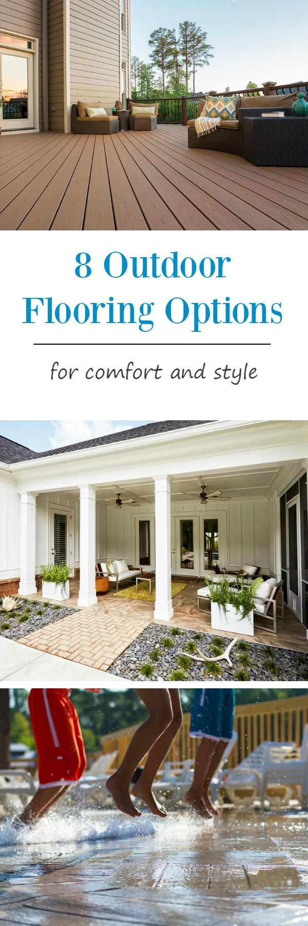 Deck amp patio furniture are often neglected when hiring a pressure - 8 Outdoor Flooring Options For Style Comfort