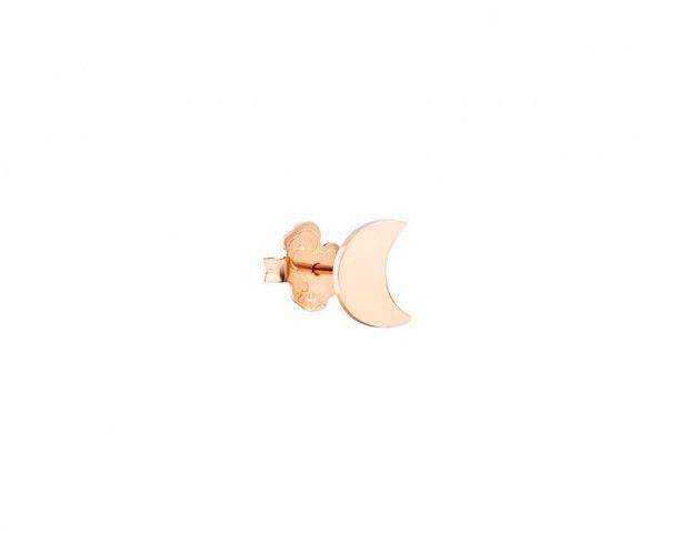 Orecchino luna in oro rosa