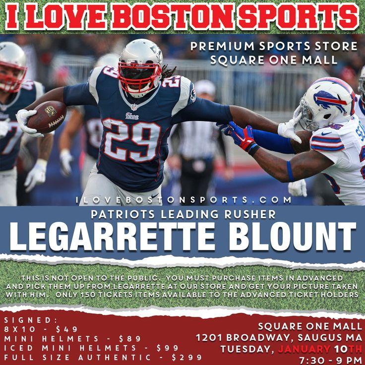 LEGARRETTE BLOUNT APPEARANCE - I Love Boston Sports Store