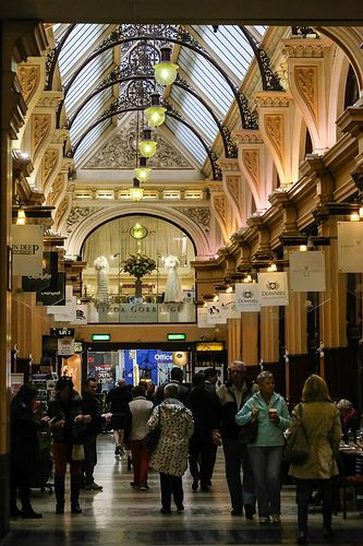 Shopping arcade in the central business district of Melbourne, Victoria. Originally constructed in 1869. #centralcity #citylife