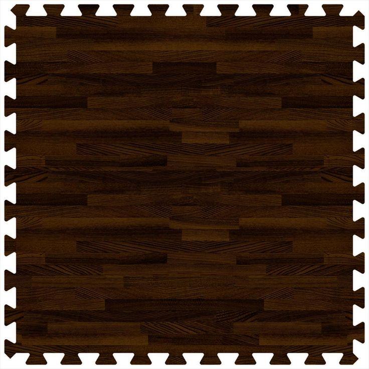 Exercise Room Flooring | BuildDirect – Foam Rubber Tiles - WoodGrain Collection – Dark Walnut [exercise room flooring]
