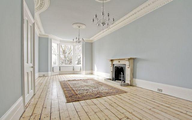 London UK Pepys Road Victorian row house flat interior crown molding bay windows by techpro12, via Flickr