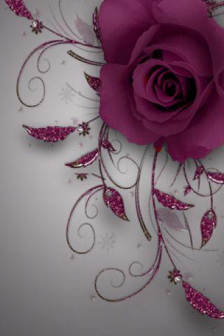 Cute Purple Rose Wallpaper.