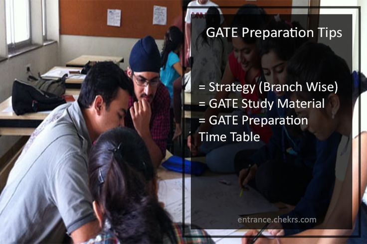 GATE Preparation Tips 2018 Strategy, Time Table for Agri, Arch, CH, IN