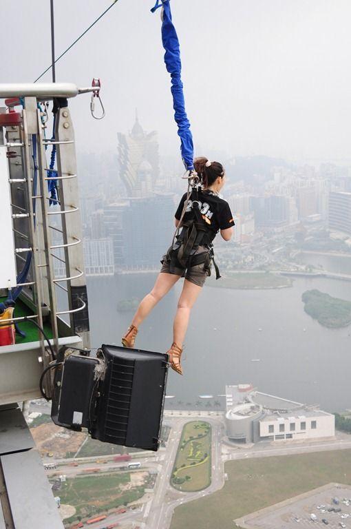 マカオタワーにはその高さを生かした「スカイジャンプ」。