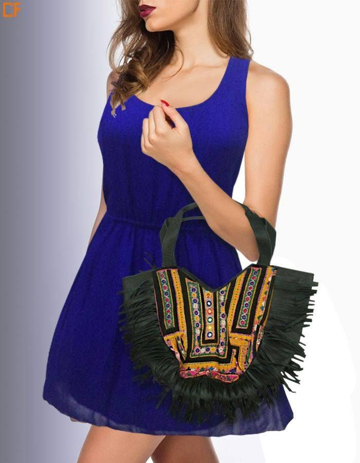 Go boho and royal at the same time #RoyalBlue#Boho #DroomFashion http://www.droomfashion.com/