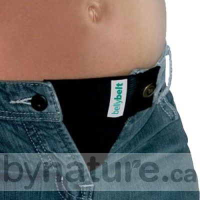 Maternity Belly Belt - this would be better than the belly band because it actually attaches to your pants