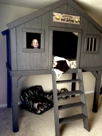 Learned how to use a saw a week ago! Treehouse for a sweet little boy! | Do It Yourself Home Projects from Ana White
