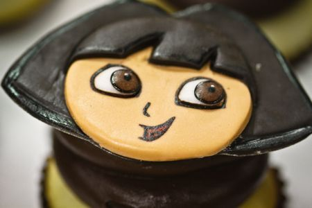 Dora cupcake toppers