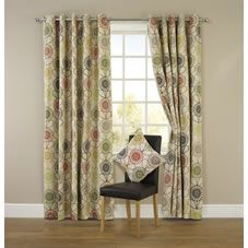 Wilko Floral Eyelet Curtains Green 167cm x 228cm