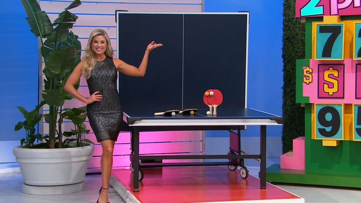 This tournament-style ping pong table features steel legs with levelers, and silk screen striping for a smooth playing surface. Accessories included. From Escalade Sports.