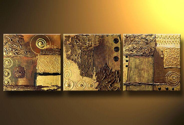 Cuadros Abstractos Modernos En Acrilico Texturados-relieves - $ 999,99 en…