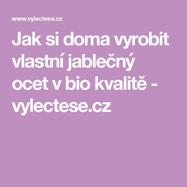 Jak si doma vyrobit vlastní jablečný ocet v bio kvalitě - vylectese.cz
