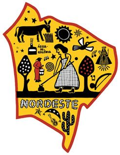 Nordeste region map of Brazil