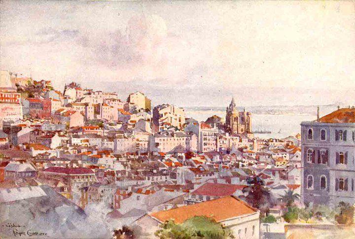 Roque Gameiro - Aguarela (Lisboa)