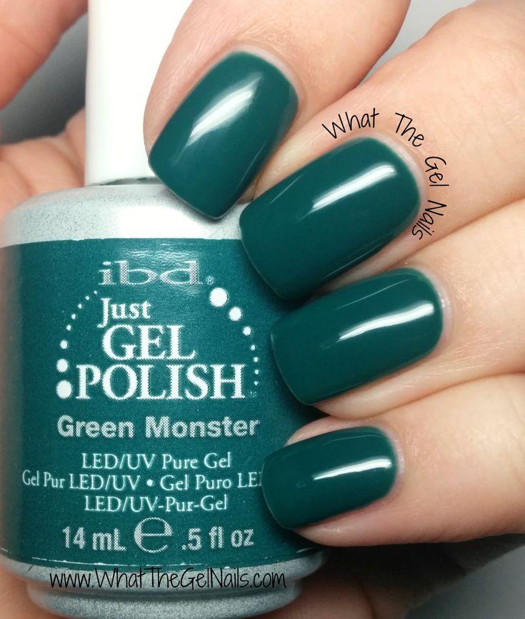 IBD Green Monster plus more Christmas gel nail colors.