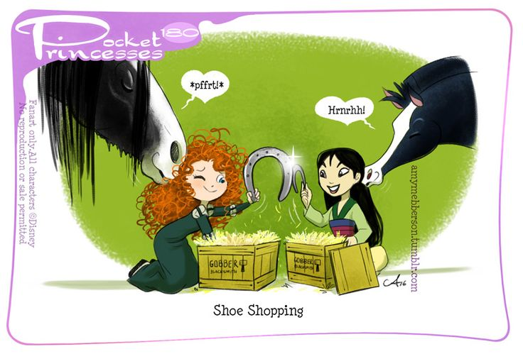 Pocket Princesses 180: Shoe Shopping. This will be the last PP for the time being. Due to my very heavy workload, which include the all-new Disney Princess Comic coming from Joe Books, I need to put the girls on indefinite hiatus. Needless to say, if or when a return to the weekly Pocket Princesses becomes practical, they'll be back! In the meantime, stay tuned for all the release and availability details of Disney Princess comics! Details here and h