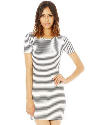 Stripe Crew Neck Dress NZD $30
