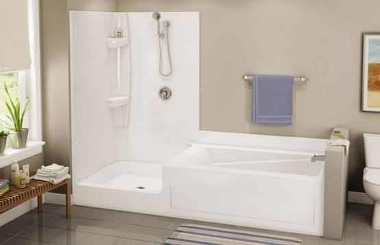 Bathroom Bathtub Showers Small Spaces Installation Shower Stalls Enclosures