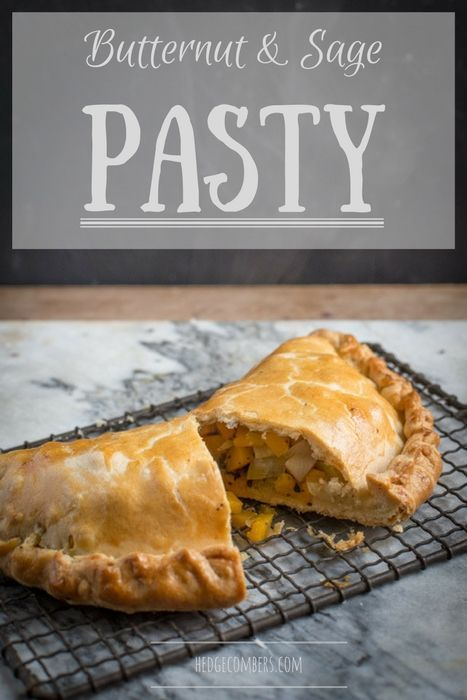 This Butternut and Sage Pasty is a truly tasty vegetarian pasty recipe that even the meat eaters will be pining over. It's also easy to adapt for vegans too. #dairyfree #vegetarian #cornishpasty