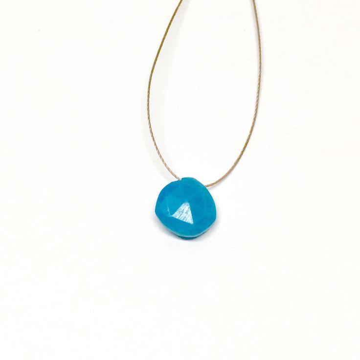 Turquoise Necklace, Turquoise Birthstone, Dainty Necklace, December birthstone necklace, delicate birthstone necklace, simple birthstone by JewelrySimplyStated on Etsy
