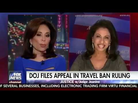 Judge Jeanine Pirro & Brigitte Gabriel On Trump Muslim Travel Ban - YouTube