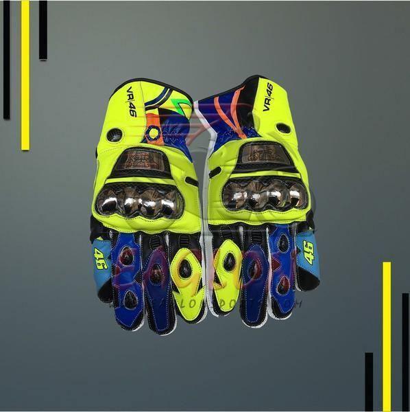 Shop Valentino Rossi Yamaha Movistar Motogp 2017 Leather Gloves now at Eaglon Sports
