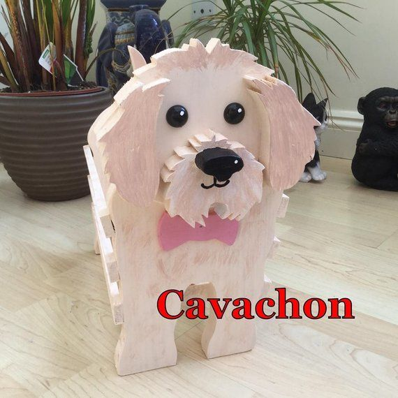 Wooden Pet Planterpet Toy Holdercavachon Designornament Odds