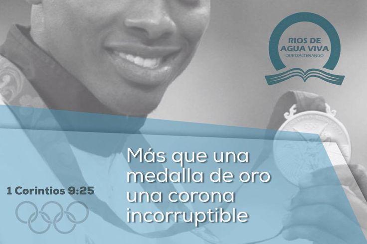 """""""Todo aquel que lucha, de todo se abstiene; ellos, a la verdad, para recibir una corona corruptible, pero nosotros, una incorruptible."""" 1a Corintios 9:25 #Rio2016 #SomosGUA #Guatemala #GuateEnRío #Olimpiadas #IcaRiosXela"""