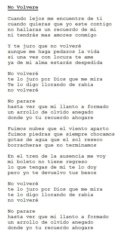 Pedro Infante ~ No Volvere