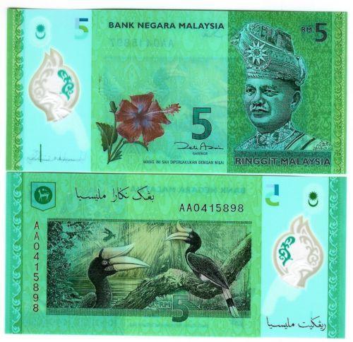 MALAYSIA 5 RINGGIT 2012 POLYMER NEW DESIGN UNC P 52 in Münzen, Papiergeld Welt, Asien | eBay