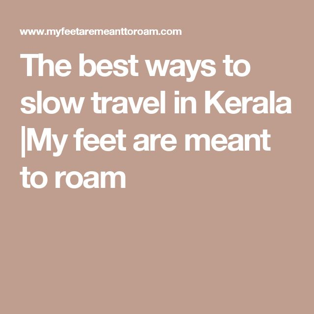 The best ways to slow travel in Kerala  My feet are meant to roam