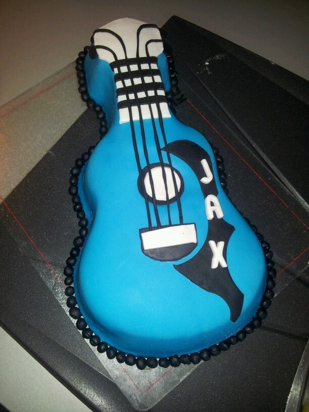 567 best cakes images on Pinterest Guitar cake Birthday cakes