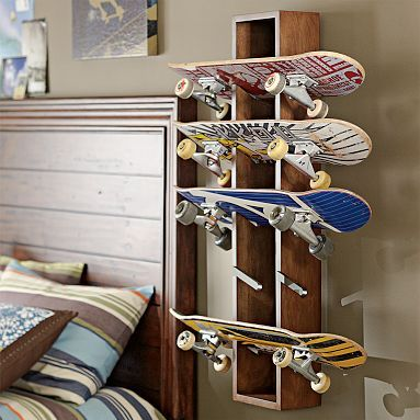 I think I may need to buy this for the hubby so all his skateboards are in one spot