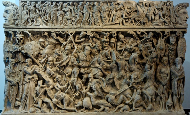 A section of aPortonaccio Sarcophagus used to bury a Roman general who led some of Marcus Aurelius's campaigns.: Palazzo Massimo, Ancient History, Romans Art, Ancient Romans, Romans Sarcophagus, Portonaccio Sarcophagus, Romans Sculpture, Romans General, Ancient Civil