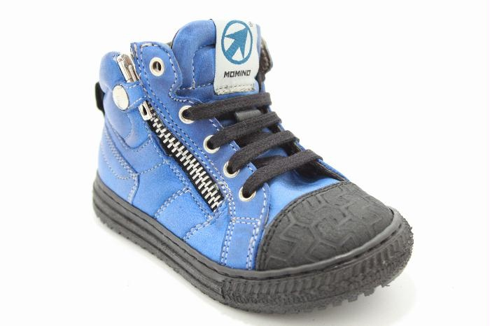 Momino kinderschoenen in blu vintage leather...