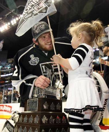 Jonathan Quick and daughter Madison