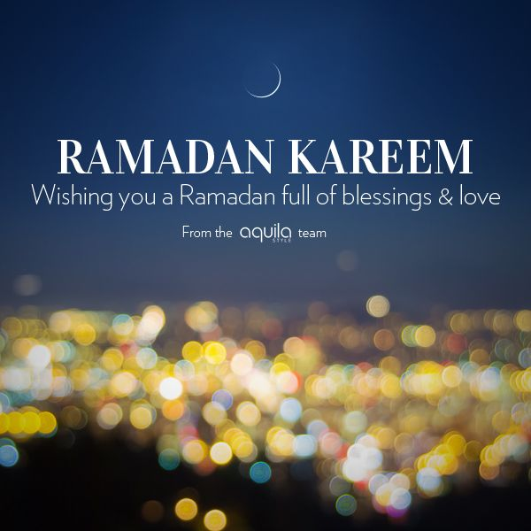 Wishing you a Ramadan full of blessings & love